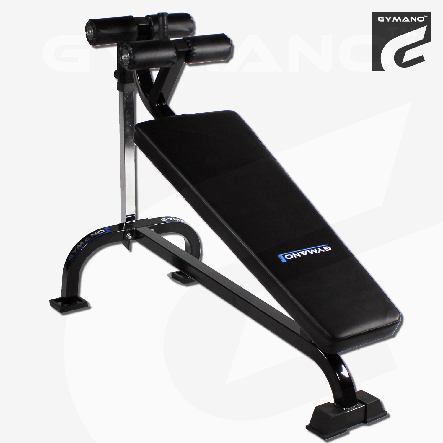 gymano pro decline crunch bench adjustable sit up